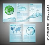 vector ecological brochure... | Shutterstock .eps vector #548221156