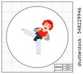 man showing taekwondo icon   Shutterstock .eps vector #548229946