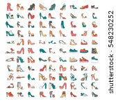 beautiful set of various shoes... | Shutterstock .eps vector #548230252