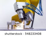 laser cutting of metal on... | Shutterstock . vector #548233408