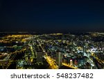 modern cityscape night view | Shutterstock . vector #548237482