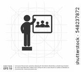 training  presentation icon.... | Shutterstock .eps vector #548237872