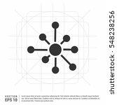 molecule vector icon   | Shutterstock .eps vector #548238256