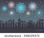 exploding colorful fireworks... | Shutterstock .eps vector #548239372