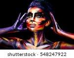 portrait of the bright...   Shutterstock . vector #548247922