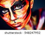 portrait of the bright... | Shutterstock . vector #548247952