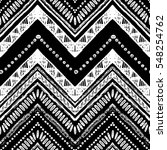 hand drawn pattern. zigzag and... | Shutterstock .eps vector #548254762
