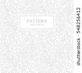 curve seamless pattern.white... | Shutterstock .eps vector #548256412