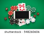 online casino concept  playing... | Shutterstock . vector #548260606