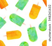 seamless popsicle and ice cream ... | Shutterstock .eps vector #548261632