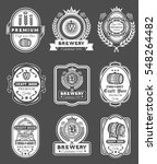 collection retro beer emblems ... | Shutterstock .eps vector #548264482