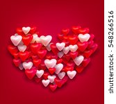 vector valentines day greeting... | Shutterstock .eps vector #548266516