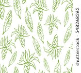 tropical trendy vector seamless ... | Shutterstock .eps vector #548268262