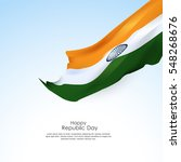 beautiful indian flag for... | Shutterstock .eps vector #548268676