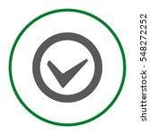 tick icon vector flat design...