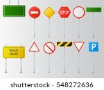 set of road signs isolated on... | Shutterstock .eps vector #548272636
