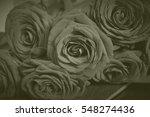 arrangement of blooming roses.... | Shutterstock . vector #548274436