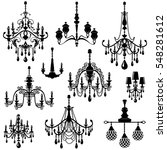 set of decorative elegant... | Shutterstock .eps vector #548281612