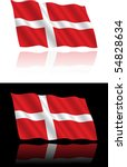 Danish Flag Flowing
