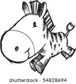 sketch doodle zebra vector... | Shutterstock .eps vector #54828694