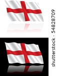 english flag flowing | Shutterstock .eps vector #54828709