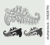 vector ornament in flower style | Shutterstock .eps vector #54828790