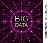 vector big data background.... | Shutterstock .eps vector #548288092