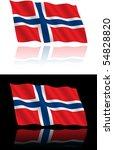norwegian flag flowing | Shutterstock .eps vector #54828820