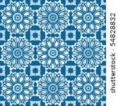seamless floral pattern  vector ... | Shutterstock .eps vector #54828832