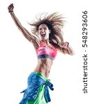 woman fitness excercises dancer ... | Shutterstock . vector #548293606