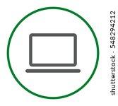 laptop icon vector flat design...