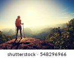 young traveler with backpack on ... | Shutterstock . vector #548296966