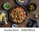 healthy delicious lunch  ... | Shutterstock . vector #548298016