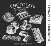 chalk hand drawing chocolate... | Shutterstock .eps vector #548298268