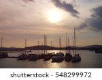 yachts at the marina in the bay ... | Shutterstock . vector #548299972