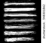 black ink vector brush strokes. ... | Shutterstock .eps vector #548301862