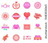 mother day icons set. cartoon... | Shutterstock .eps vector #548303065