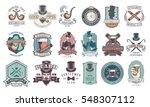 set of vintage gentleman... | Shutterstock .eps vector #548307112