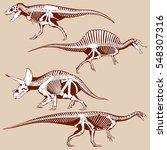 gigantic dinosaurus silhouettes ... | Shutterstock .eps vector #548307316
