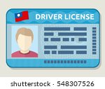 vector car driving licence ...