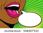 sexy open mouth of african... | Shutterstock .eps vector #548307532