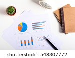 top view of business chart on... | Shutterstock . vector #548307772
