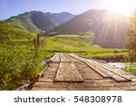 sunrise mountain landscape with ... | Shutterstock . vector #548308978