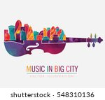 colorful music background. ... | Shutterstock .eps vector #548310136