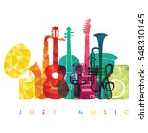 colorful music background.... | Shutterstock .eps vector #548310145