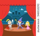 cute little kids' theater... | Shutterstock .eps vector #548310292