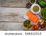 selection of nutritive food  ... | Shutterstock . vector #548312515