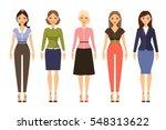 woman dresscode vector... | Shutterstock .eps vector #548313622