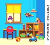 preschool kindergarten... | Shutterstock .eps vector #548313835