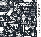 seamless coffee sketch... | Shutterstock .eps vector #548315695